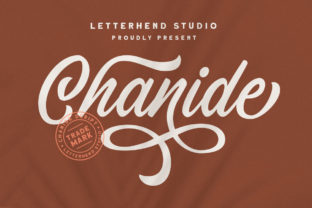 Print on Demand: Chanide Script & Handwritten Font By letterhend
