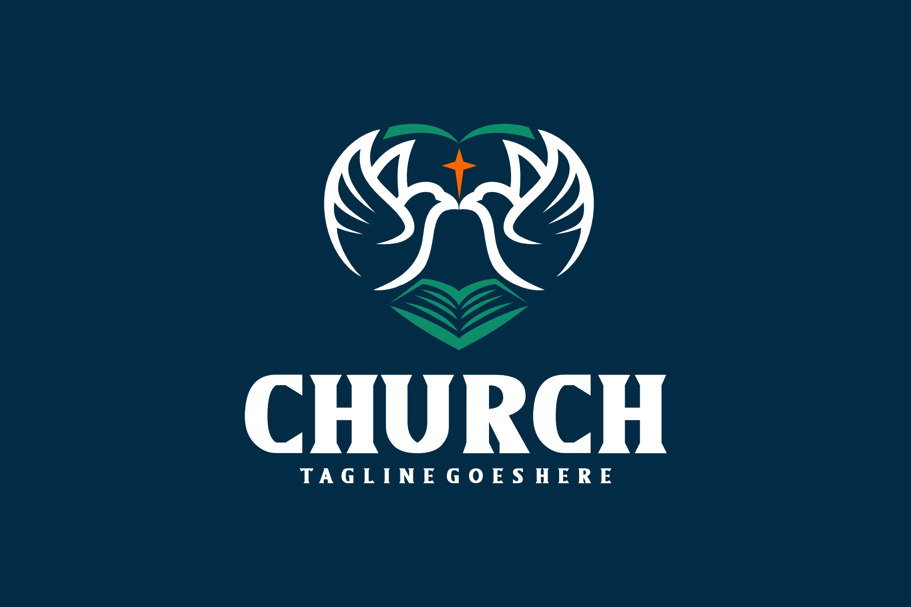 Download Free Church Logo Grafico Por Herulogo Creative Fabrica for Cricut Explore, Silhouette and other cutting machines.
