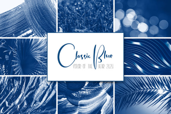 Classic Blue 2020 Toned Photos Graphic Abstract By Happy Letters