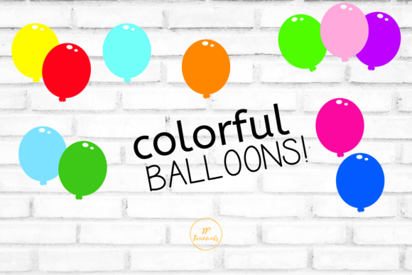 Print on Demand: Colorful Balloons Graphic Illustrations By jpjournalsandbooks