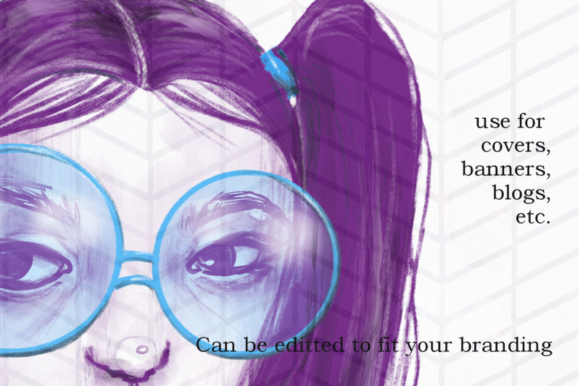 Print on Demand: Cool Purple Girl Graphic Illustrations By Tubiganart - Image 1