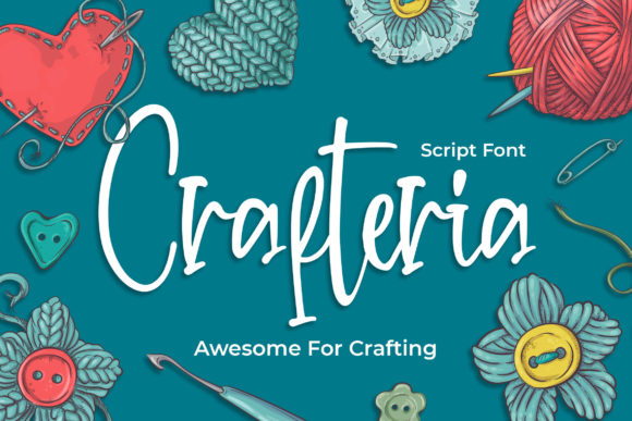Print on Demand: Crafteria Script & Handwritten Font By Blankids Studio