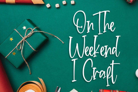 Print on Demand: Crafteria Script & Handwritten Font By Blankids Studio - Image 2