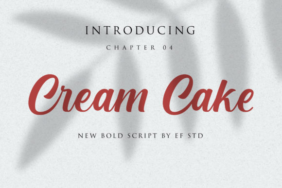 Print on Demand: Cream Cake Script & Handwritten Font By Ef Studio