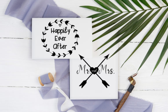 Print on Demand: Cute Wedding Overlays-Wedding Cliparts Graphic Illustrations By Happy Printables Club - Image 5