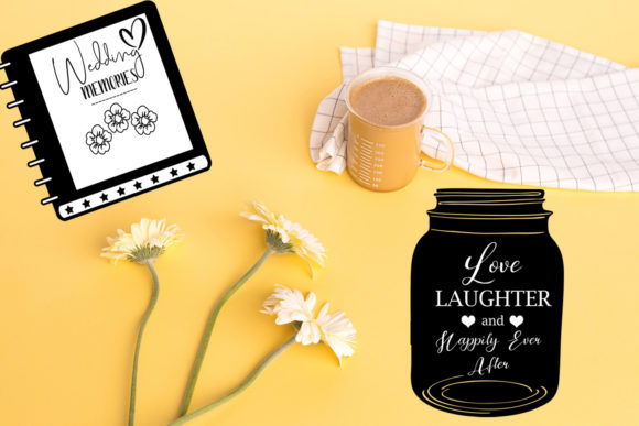 Print on Demand: Cute Wedding Overlays-Wedding Cliparts Graphic Illustrations By Happy Printables Club - Image 8
