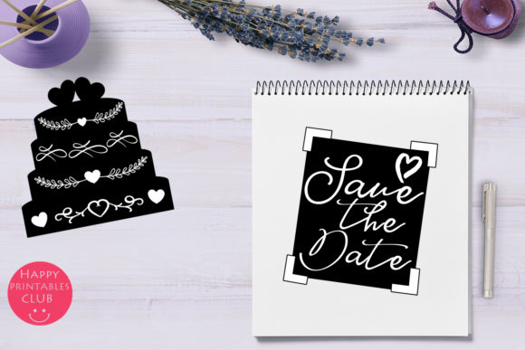 Print on Demand: Cute Wedding Overlays-Wedding Cliparts Graphic Illustrations By Happy Printables Club - Image 9