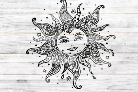 Download Free Cutting File Sun Graphic By Seehas Design Creative Fabrica for Cricut Explore, Silhouette and other cutting machines.
