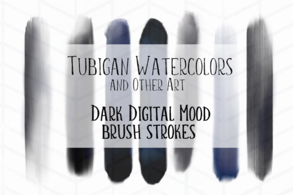 Print on Demand: Dark Moods Brush Strokes Graphic Objects By Tubiganart