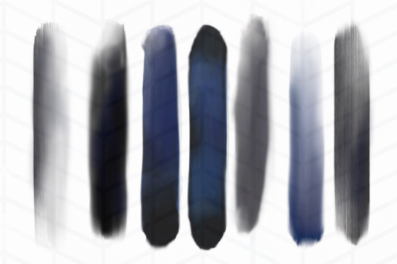 Print on Demand: Dark Moods Brush Strokes Graphic Objects By Tubiganart - Image 2