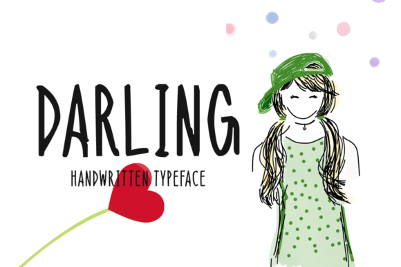 Print on Demand: Darling Display Font By Instagram Fonts