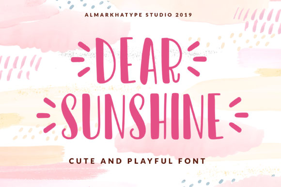 Dear Sunshine Font By Almarkhatype Creative Fabrica