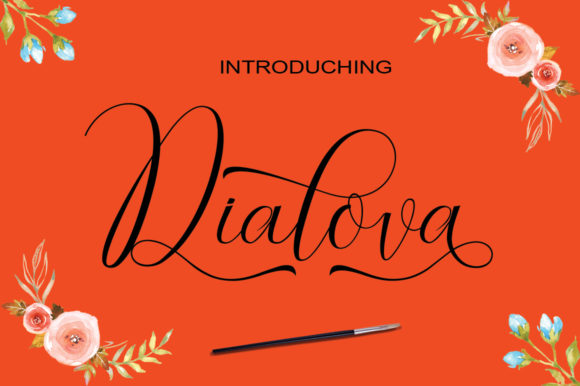 Print on Demand: Dialova Script & Handwritten Font By parawtype