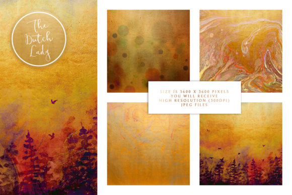 Print on Demand: Digital Backgrounds - Forest Fire Graphic Backgrounds By daphnepopuliers - Image 2