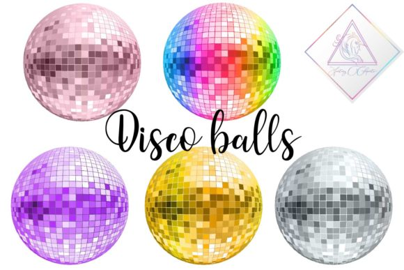Print on Demand: Disco Balls Clipart Graphic Illustrations By fantasycliparts