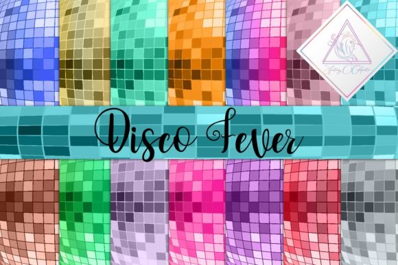 Print on Demand: Disco Fever Digital Paper Graphic Textures By fantasycliparts