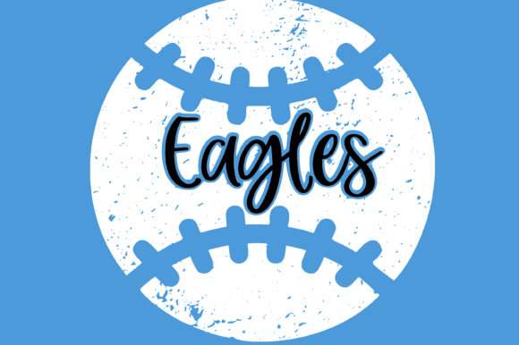 Download Free Eagles Distressed Baseball Files Graphic By Am Digital Designs for Cricut Explore, Silhouette and other cutting machines.