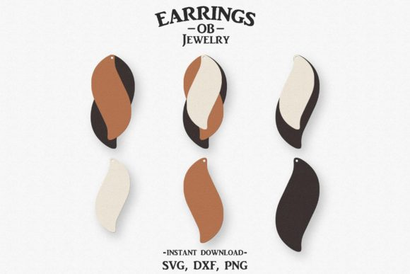 Download Free Earring Stacked Leaf Graphic By Designtime2019 Creative Fabrica for Cricut Explore, Silhouette and other cutting machines.