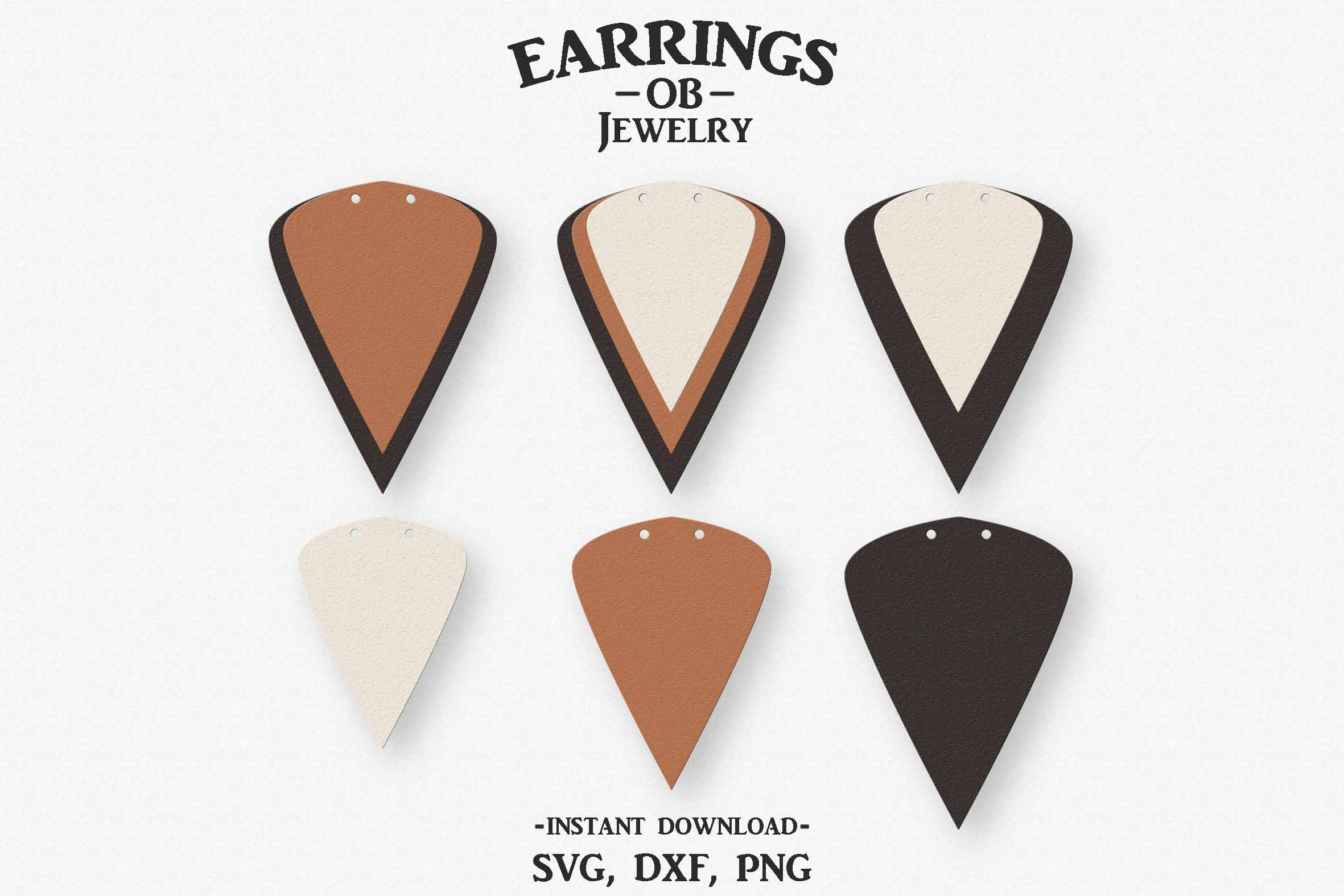 Download Free Earring Stacked Teardrop Double Hole Graphic By Designtime2019 for Cricut Explore, Silhouette and other cutting machines.
