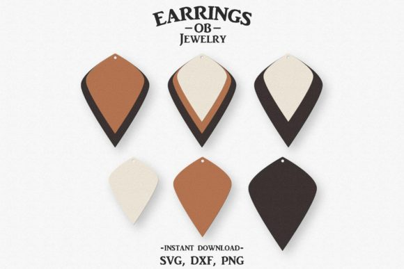 Download Free Earring Stacked Teardrop Graphic By Designtime2019 Creative for Cricut Explore, Silhouette and other cutting machines.