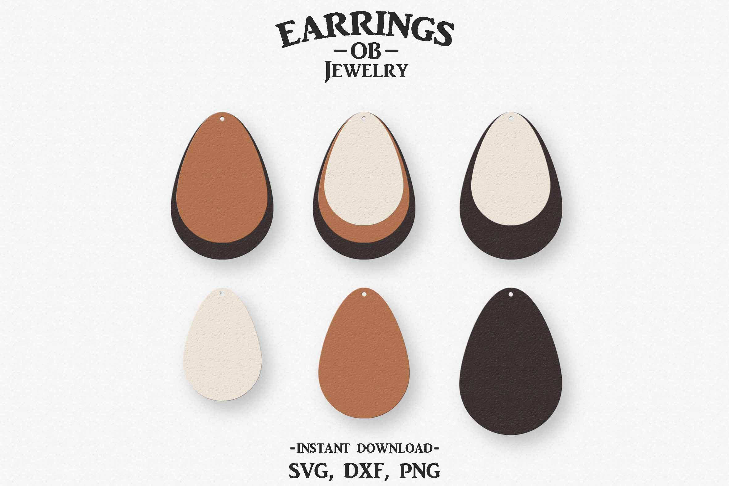 Download Free Earring Stacked Teardrop Graphic By Designtime2019 Creative SVG Cut Files