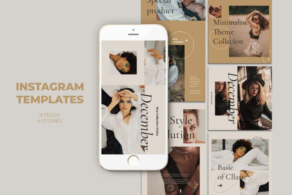 Fashion Instagram Templates Graphic Web Elements By qohhaarqhaz