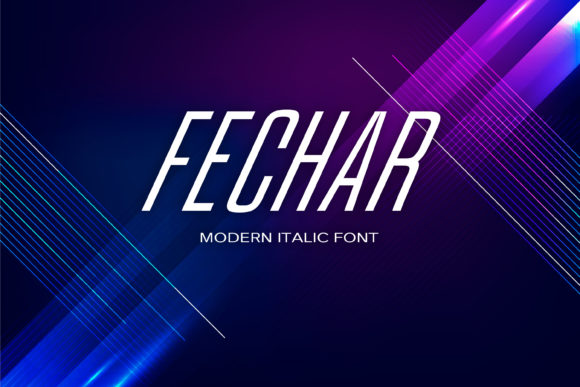 Print on Demand: Fechar Display Font By maxim.90.ivanov - Image 1