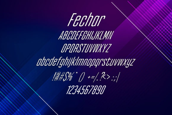 Print on Demand: Fechar Display Font By maxim.90.ivanov - Image 2