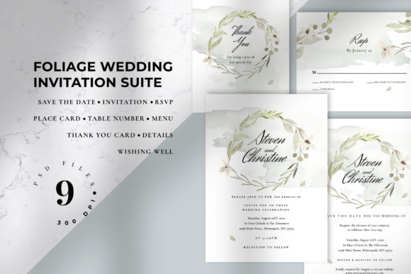 Download Free Wedding Invitation Suite Emily Graphic By Azka Creative for Cricut Explore, Silhouette and other cutting machines.
