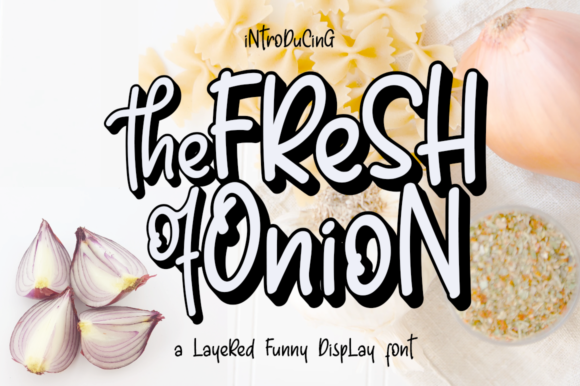 Print on Demand: Fresh Onion Display Schriftarten von Haksen