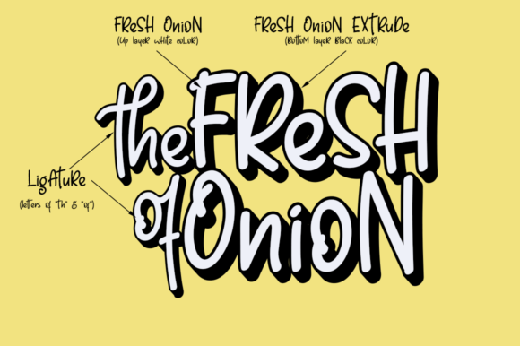 Print on Demand: Fresh Onion Display Font By Haksen - Image 7