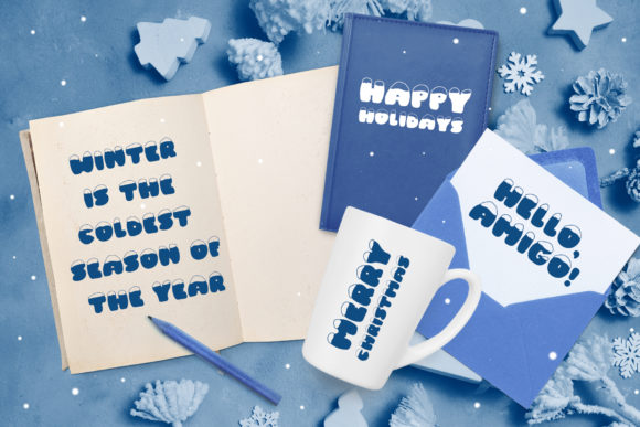 Print on Demand: Frosty Joy Display Font By Happy Letters - Image 7