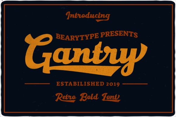 Print on Demand: Gantry Script & Handwritten Font By LetterBeary