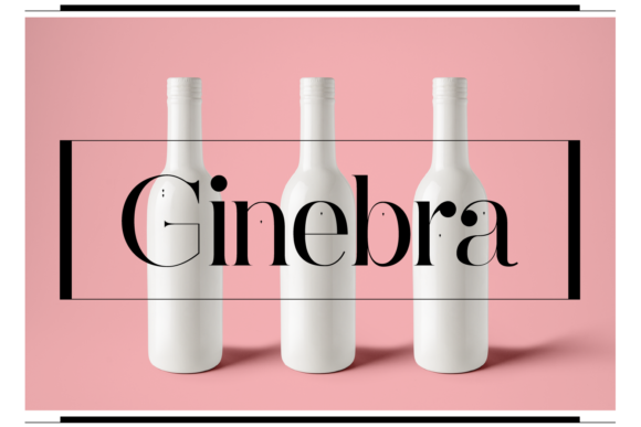 Print on Demand: Ginebra Serif Font By yai.salinas - Image 1