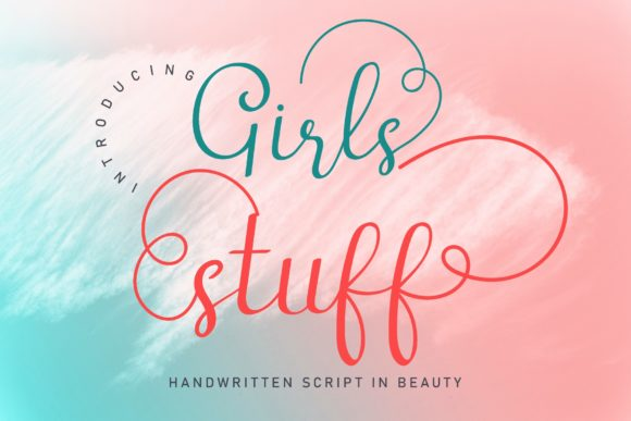 Print on Demand: Girls Stuff Script & Handwritten Font By airotype