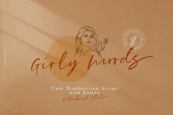Print on Demand: Girly Moods Script & Handwritten Font By letterhend