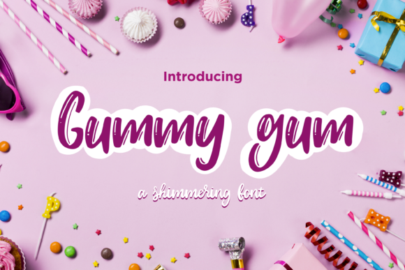Print on Demand: Gummy Gum Script & Handwritten Font By Scilla Corbelli