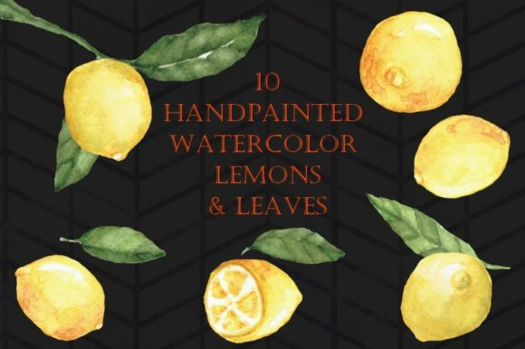 Print on Demand: Handpainted Watercolor Lemons Graphic Illustrations By Tubiganart - Image 2