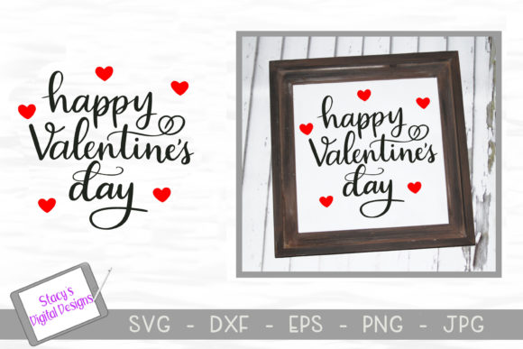 Download Free Happy Valentines Day Graphic By Stacysdigitaldesigns Creative for Cricut Explore, Silhouette and other cutting machines.