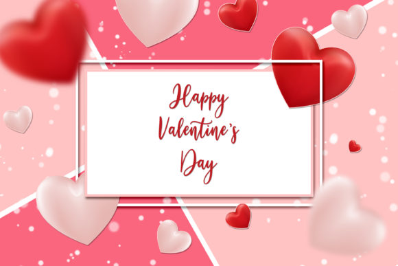 Download Free Happy Valentine S Day Greeting Template Graphic By Suedanstock SVG Cut Files