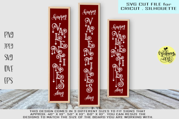 Download Free Happy Valentines Day Sign Graphic By Midmagart Creative Fabrica for Cricut Explore, Silhouette and other cutting machines.