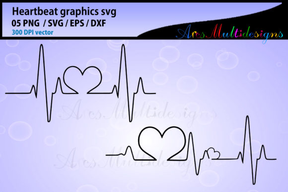Print on Demand: Heart Beat Graphic Illustrations By Arcs Multidesigns - Image 2