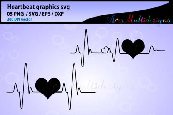 Print on Demand: Heart Beat Graphic Illustrations By Arcs Multidesigns - Image 3