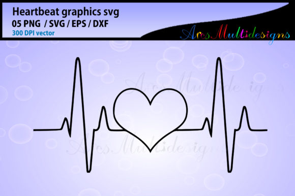 Print on Demand: Heart Beat Graphic Illustrations By Arcs Multidesigns - Image 4