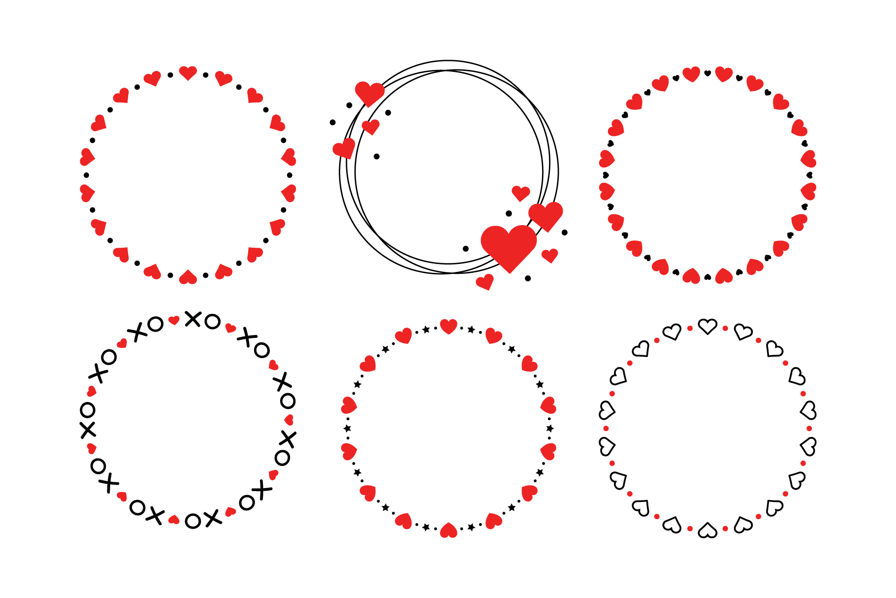 Download Free Heart Valentine Frame Clip Art Set Graphic By Running With Foxes Creative Fabrica for Cricut Explore, Silhouette and other cutting machines.