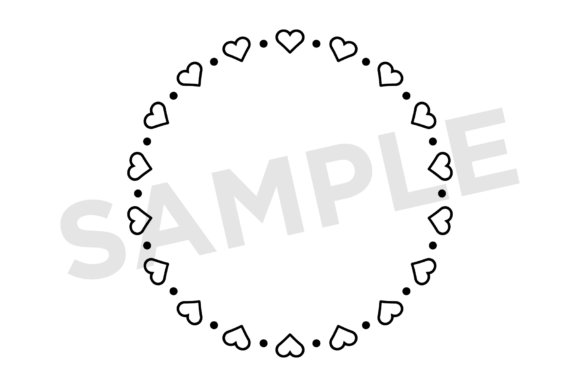 Print on Demand: Heart Valentine Frame Clip Art Set Graphic Illustrations By Running With Foxes - Image 10