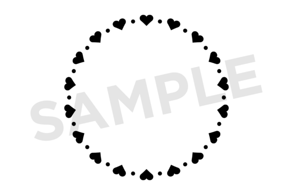 Print on Demand: Heart Valentine Frame Clip Art Set Graphic Illustrations By Running With Foxes - Image 5