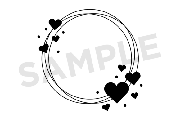 Print on Demand: Heart Valentine Frame Clip Art Set Graphic Illustrations By Running With Foxes - Image 6