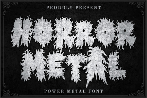 Print on Demand: Horror Metal Blackletter Font By thomasaradea