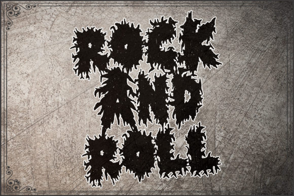 Horror Metal Font Design